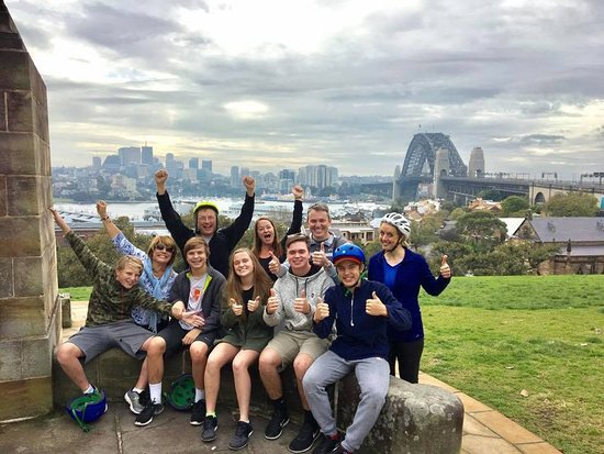 Bike Buffs - Sydney Bicycle Tours: Here's our group on the tour. So much fun!