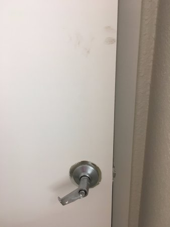 Wyndham Garden Marietta Atlanta North: Bathroom door wouldn't close all the way and dirty.