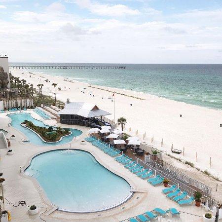 Holiday Inn Express Suites Panama City Beach Beachfront Zero Depth Pool And Lazy