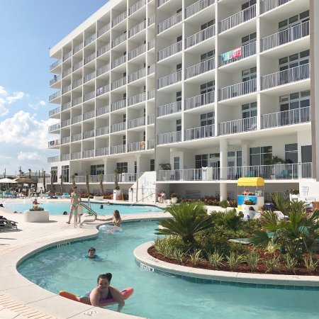 Holiday Inn Express Suites Panama City Beach Beachfront Lazy River Keeps You