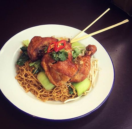 Annandale, Australia: egg noodles with crispy chicken