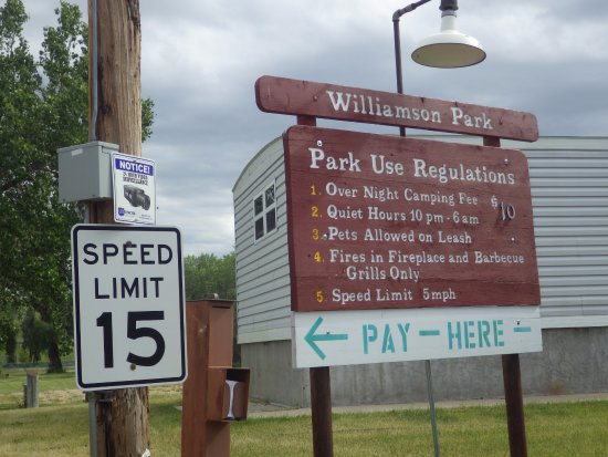 Shelby, MT: Williamson Park Use Regulations
