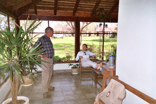 Rincon del Socorro: This is from a previous visit, a cabin with screen porch and classic grass roof