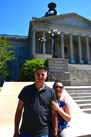 South Carolina State House: Jon and Dawn in front of State House
