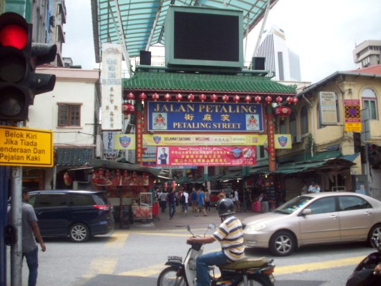 Hotel Petaling : The start of China Town as seen from the Hotel