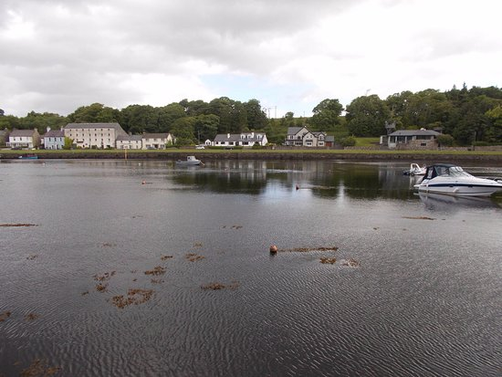 Newport, Ireland: View of B & B (in centre) from over the river