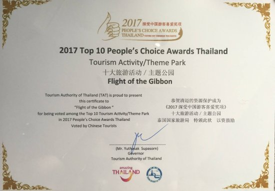 2017 top 10 peoples choice awards thailand for tourism activity