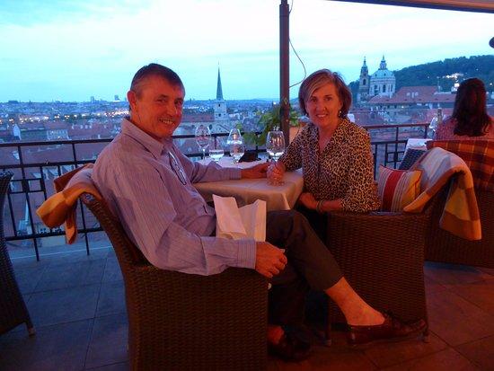 Dinner at the Golden Well Hotel Terrace Restaurant in Prague