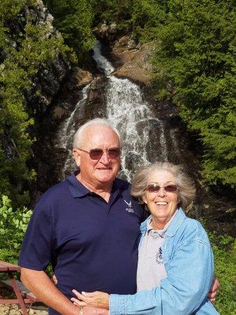 Beautiful Cascade Falls near Gorham, NH