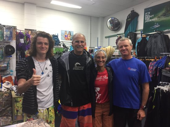 Noosaville, Avustralya: George, Liam and my husband & I!