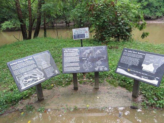 Battle Of Jenkins Ferry Memorial: Saline River Crossing imarkers tell the story of the battle fought to cross the river
