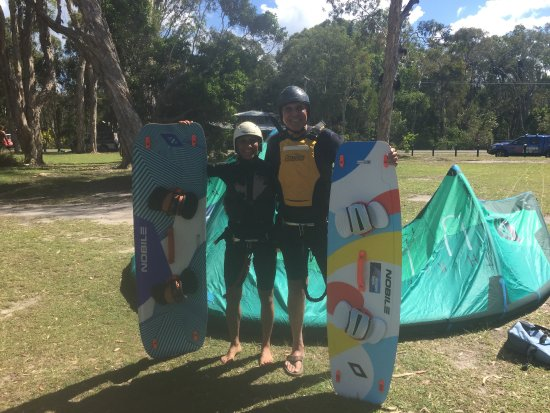 Adventure Sports Kitesurf Australia: Getting ready for our lesson!