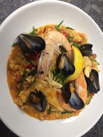 Tywyn, UK: Seafood paella!!