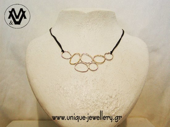 Unique necklace with silver and bronze wire... Ask about if you don ...