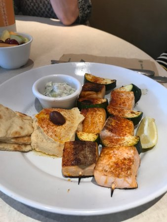 Zoes Kitchen Salmon Kabob zoes kitchen menu - picture of zoes kitchen, addison - tripadvisor