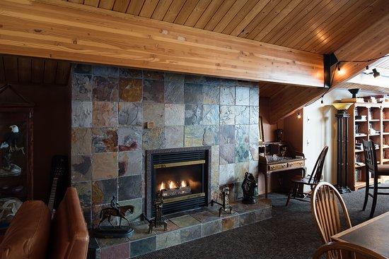 McCall, ID: Fireplace in Main Lodge Upstairs