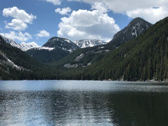 Gallatin Gateway, MT: View at the lake
