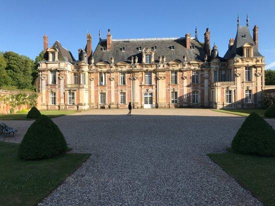 Haute-Normandie, Frankrike: première impression quand on arrive au château