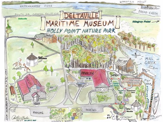 Deltaville, VA: Museum Grounds Map