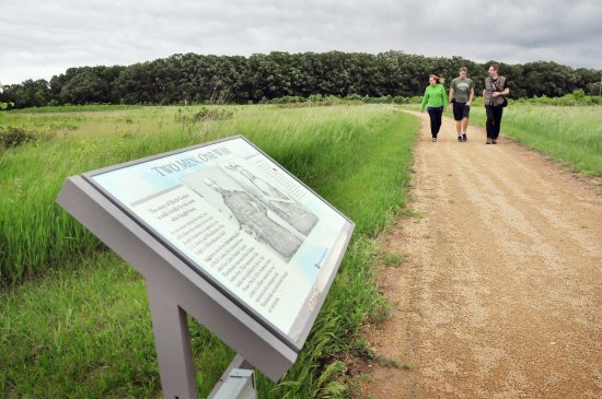 Morton, MN: Explore the paths around Birch Coulee Battlefield.