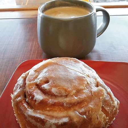 Norman, OK: Warm Cinnamon Roll With Our Sexy Creamy Coffee