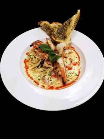 Olean, NY: Shrimp Bruschetta Alfedo