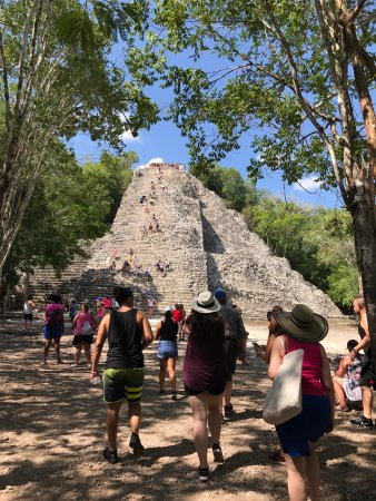 Coba sunset.  We did the cultural experience.   Well worth. It. Jesus'was our tour guide and he