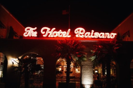 The Hotel Paisano: View at night