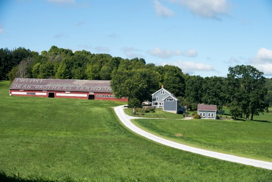 Brandon, VT: The Farm with Swallows Nest in summer.