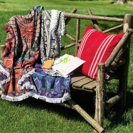 Keene, NY: Light cotton throws - perfect for summer!