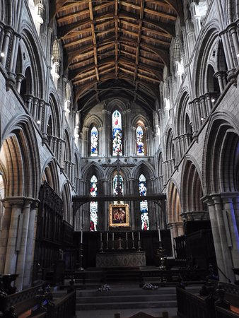 Hexham, UK: View of the Interior of the Abbey