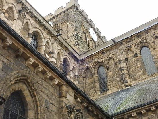 The classic romanesque Hexham Abbey