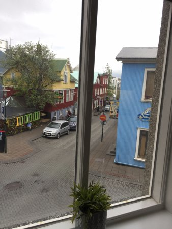 View out second floor corner room window w picture of for Rey apartments reykjavik