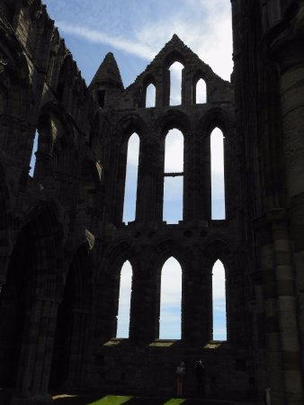 Whitby Abbey: a view with a little more Dracula flair