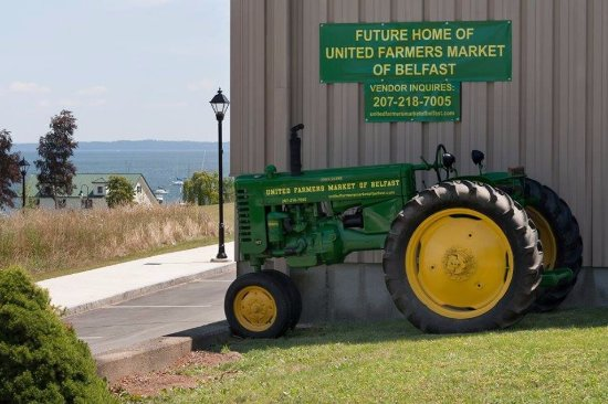 Belfast, ME: Front Entrance Corner with the Tractor