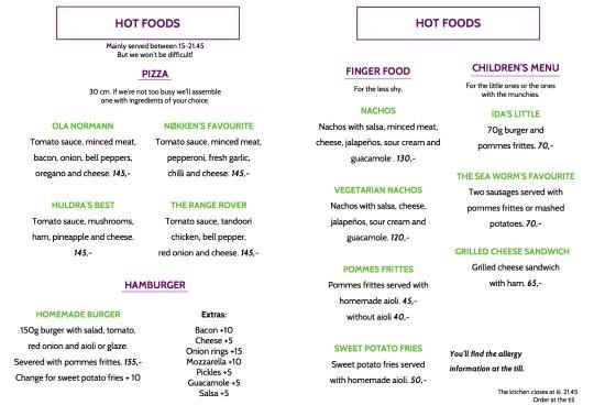 Hornindal, นอร์เวย์: Hot foods