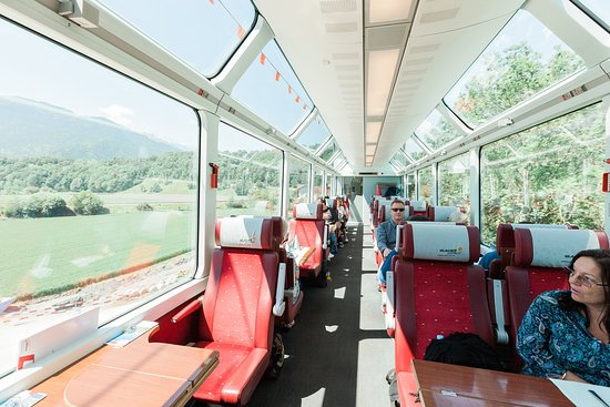 Glacier Express: 1st Class Carriage