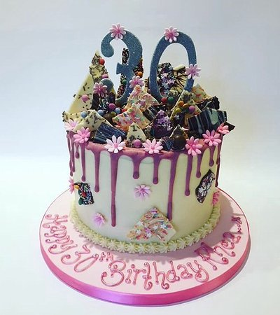 Swell 30Th Birthday Drip Cake Picture Of Enjoy Cakes Cafe Personalised Birthday Cards Paralily Jamesorg