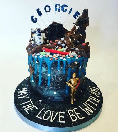 Amazing Star Wars Drip Cake Picture Of Enjoy Cakes Cafe Birthday Cards Printable Giouspongecafe Filternl