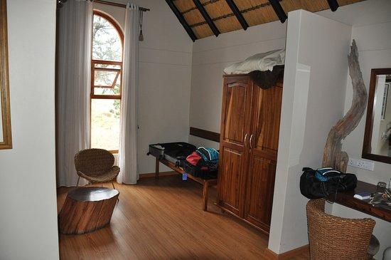 Kalahari Bush Breaks: Spacious rooms with desks and seating.