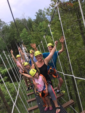 Baileys Harbor, Висконсин: Come on out and Try our new suspension bridge! 🌲 See you guys out there! 🌲 #Zipon