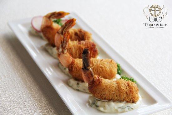 Emirate of Abu Dhabi, De forente arabiske emirater: Shrimps with Tartar sauce