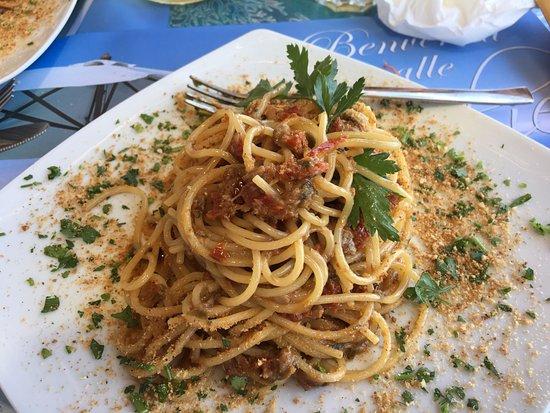 Alicudi, Italia: Spaghetti all'Arcudara