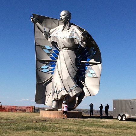 "Chamberlain, SD: ""Dignity"" a new sculpure dedicated in 2016."