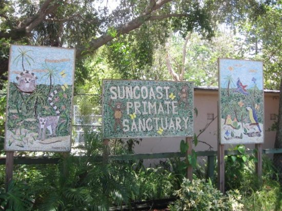 Palm Harbor, FL: Sign to the entrance of Suncoast Primate Sancturary