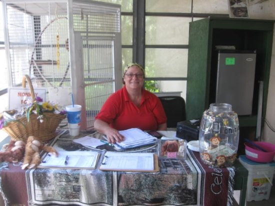 Palm Harbor, FL: Say Hello to Sandy, A Volunteer who mention the History of the Sanctuary.
