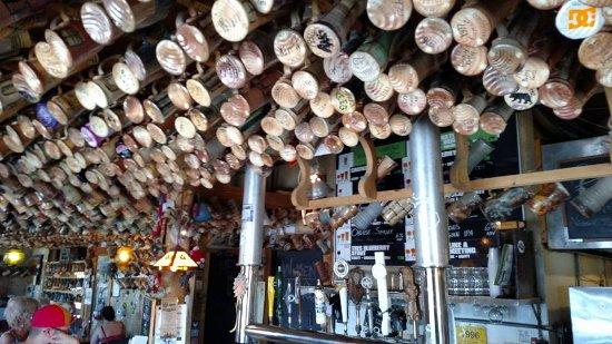 Marshall, MI: mugs on the ceilings