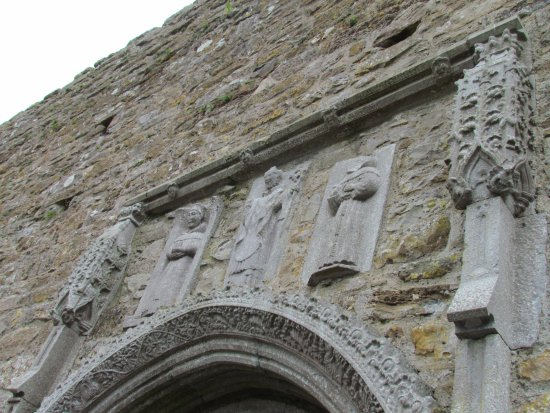County Offaly, Ireland: The detailing of the stonework of the original cathedral