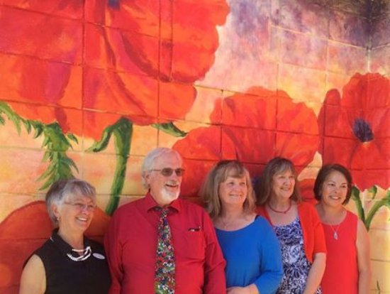 Enderby, Canada: The Poppy Art Mural Team