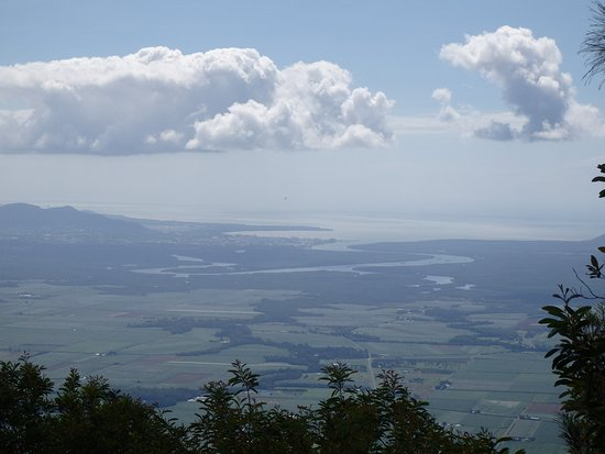 Summit. Looking northerly over Gordonvale to Cairns